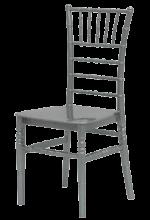 renta de sillas tiffany plateadas